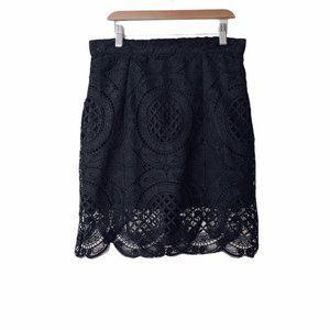 Brunette The Label Crochet Lace Knee Length Skirt